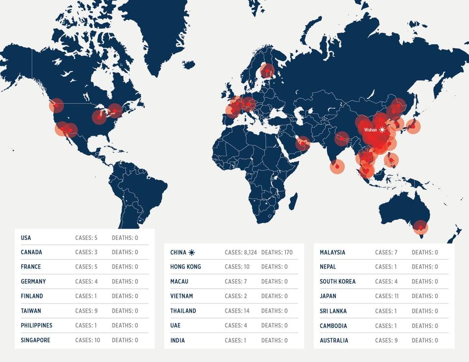 Coronavirus Map 1.30