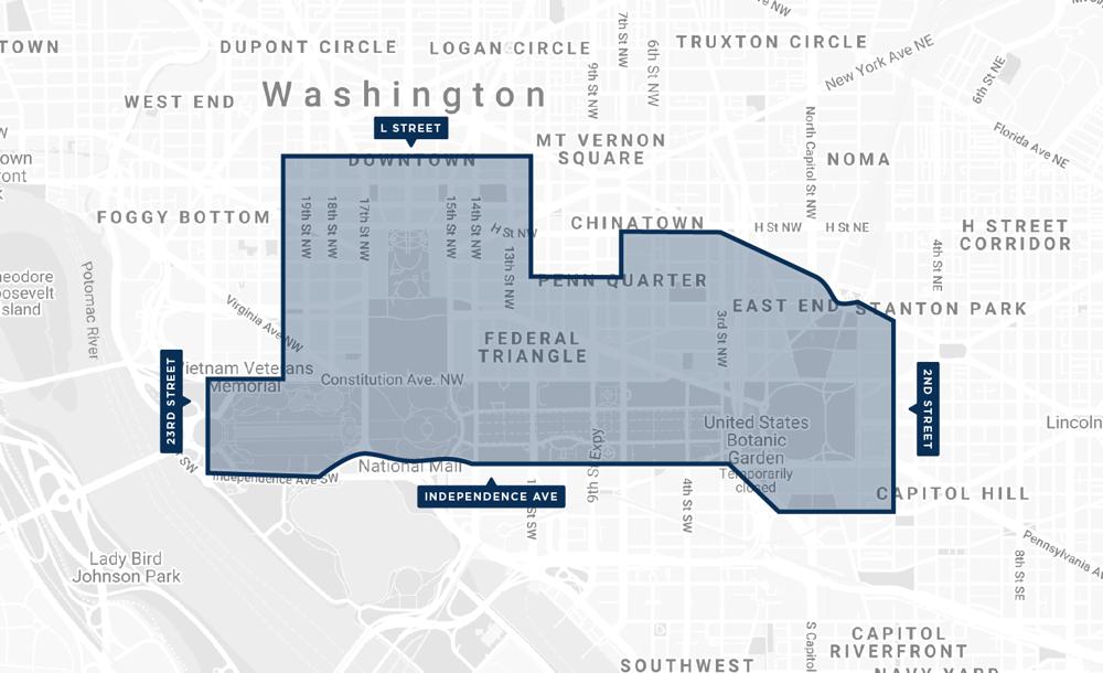 nat mall inauguration map