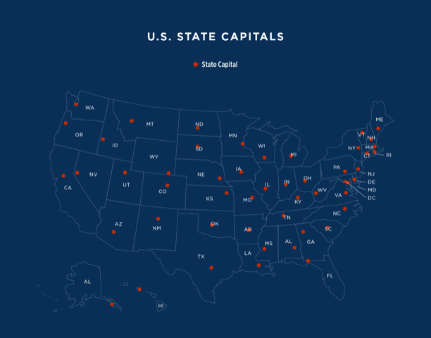 us state capitals