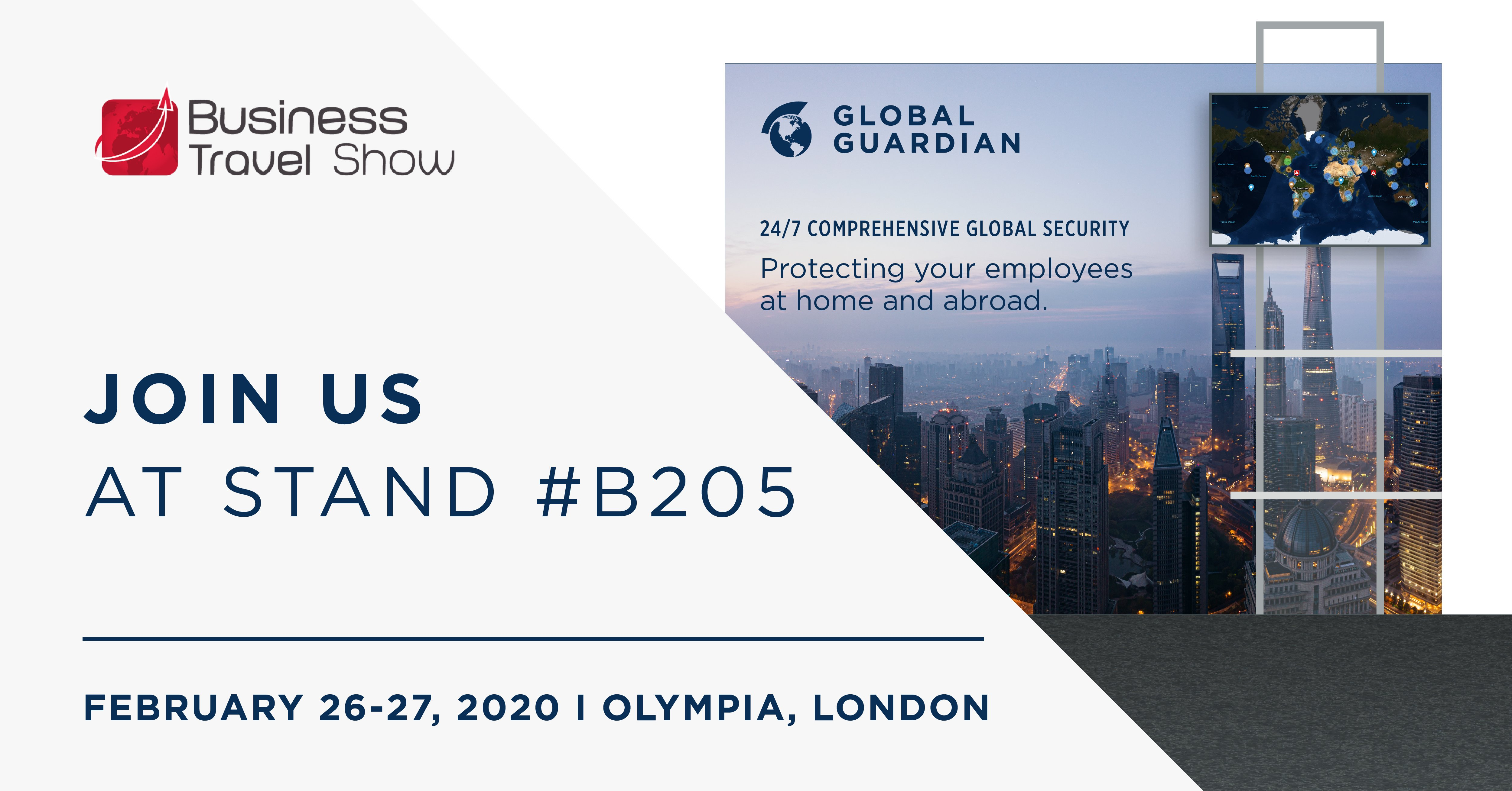 Join Global Guardian in London at the Business Travel Show