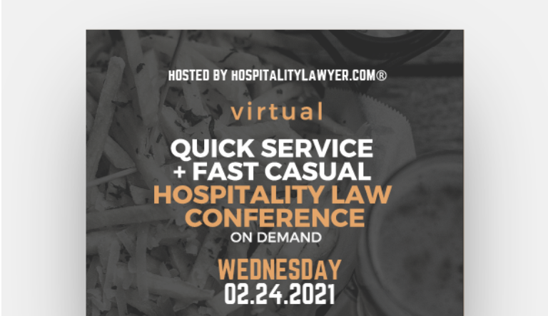 Dale Buckner Speaking at QSFC Hospitality Law Virtual Conference